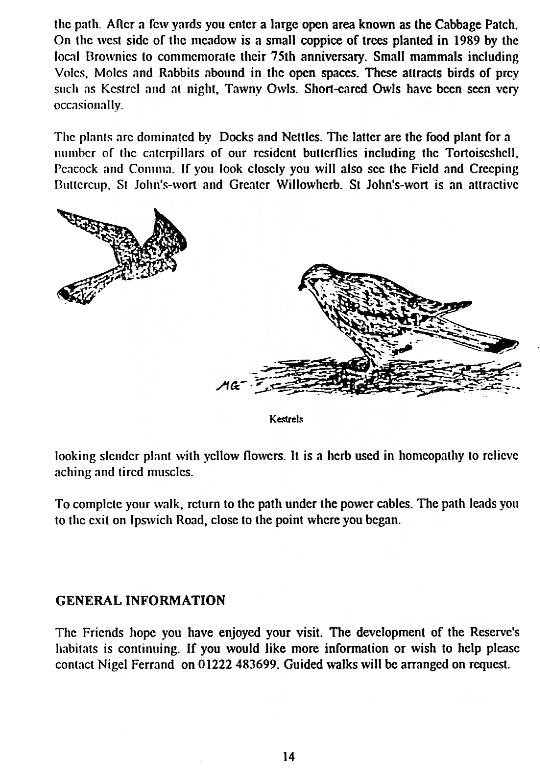 Howardian Local Nature Reserve   Nature Trail Booklet 1996 (English)   General Information