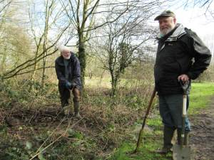 Howardian Local Nature Reserve&#010 Digging out drainage ditch