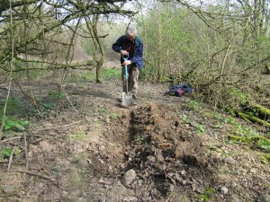 Howardian Local Nature Reserve&#010 Digging out the channel